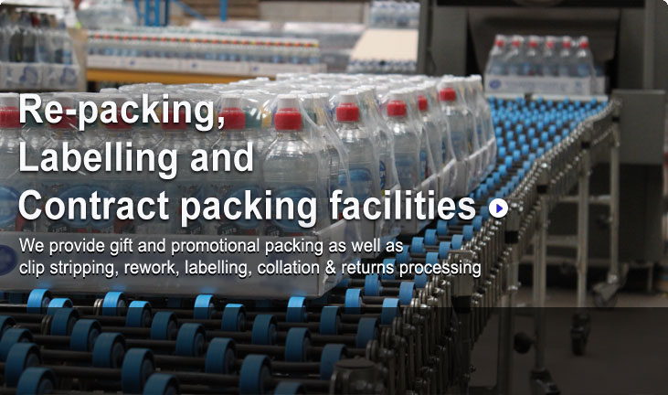 Park Logistics - Contract Packing in Nottingham, UK. Re-packing, Labelling and Contract packing facilities. We provide gift and promotional packing as well as clip stripping, rework, labelling, collation & returns processing.